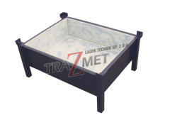 Non-standard products - Container whit a flap, interior protected whit PCV plates.